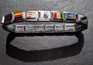 Other - Designer International Flags Silver Bracelet